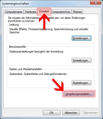 Java Path setzen Umgebungsvariablen