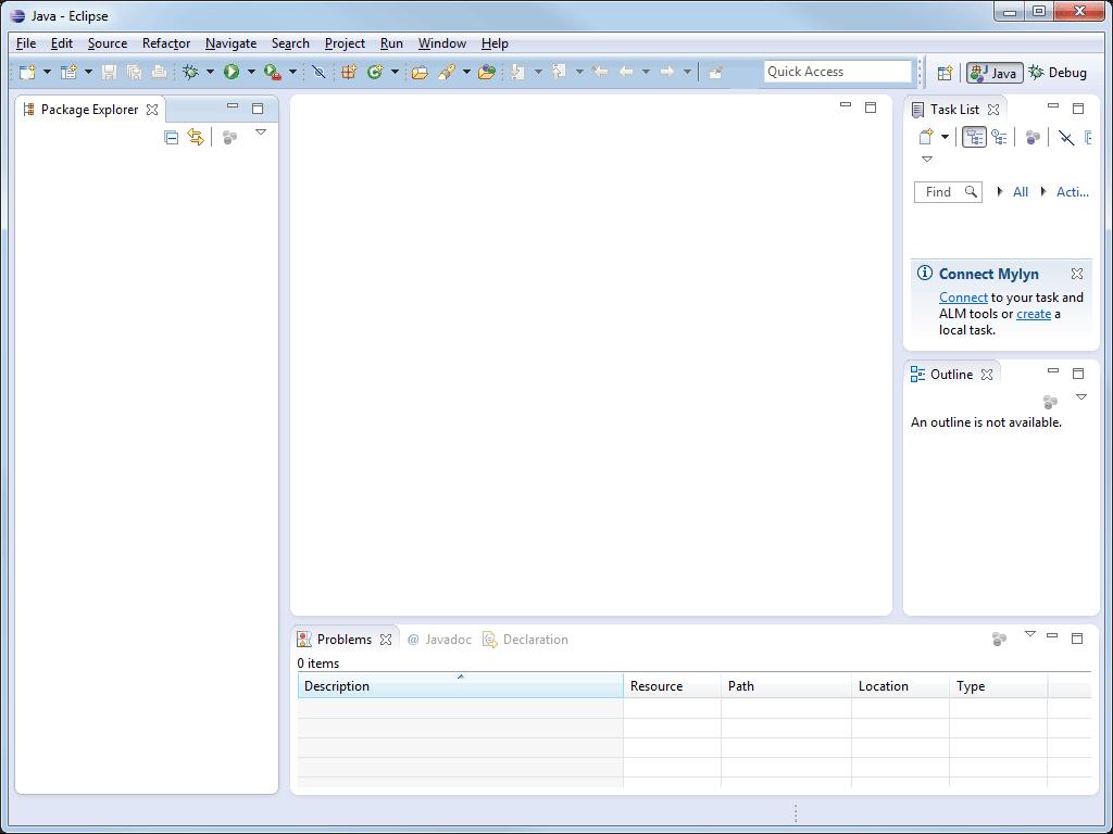 Java-Entwicklungsumgebung Eclipse Java-Perspektive