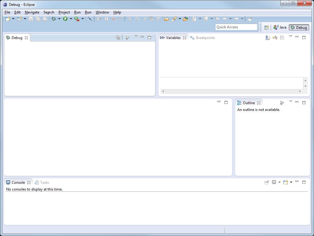 Java-Entwicklungsumgebung Eclipse Debug-Perspektive