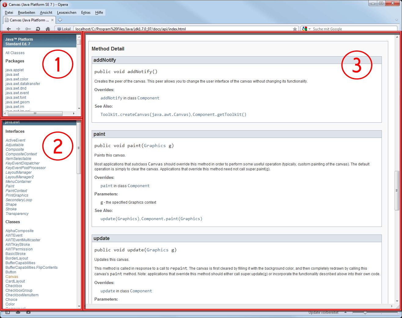 Java API-Dokumentation des JDK
