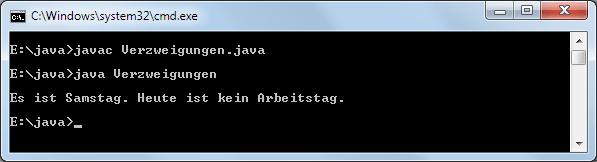 Java Verzweigungen switch-Anweisung