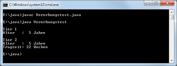 Java Vererbung: Ableiten einer Klasse