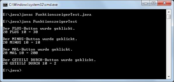 Java Interface Funktionszeiger