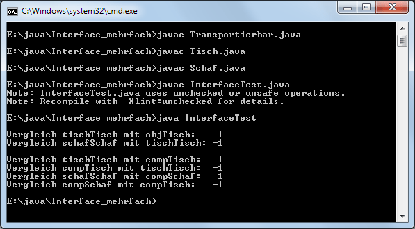 Java Interfaces Mehrfachimplementierung