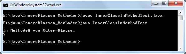 Java Innere Klasse Methode