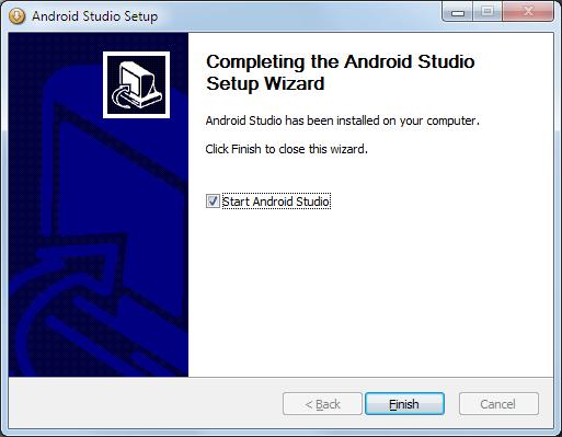 Android Studio Setup Wizard beenden