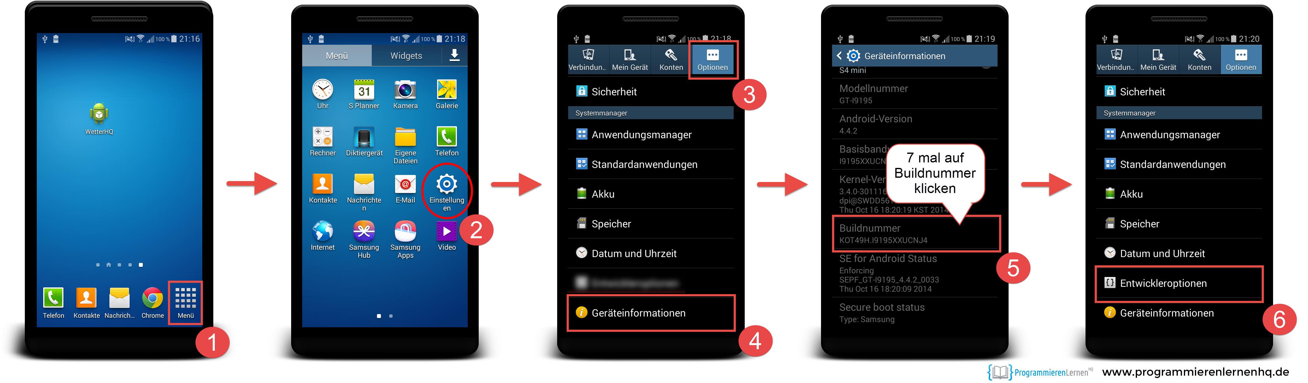 Samsung App Programmieren
