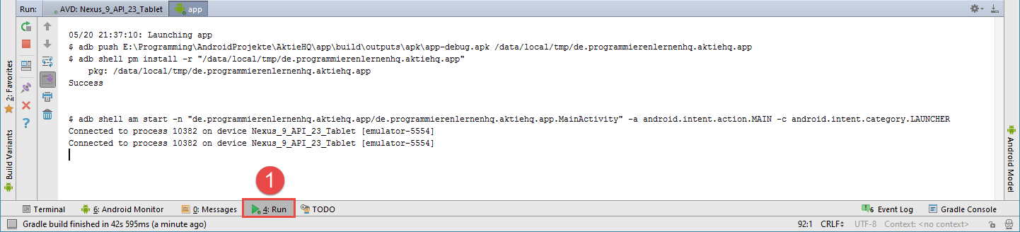 android studio project avd