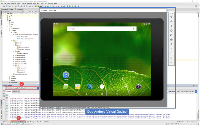 android studio project avd open