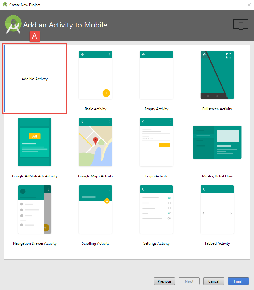 android studio project no activity