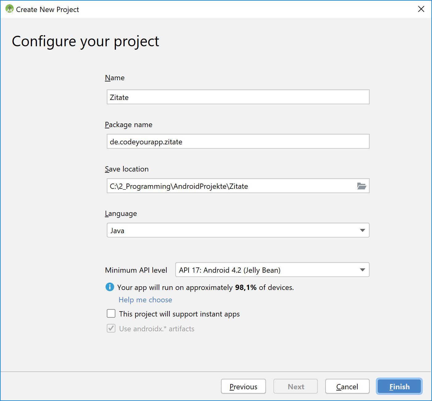 neues_projekt_konfigurieren