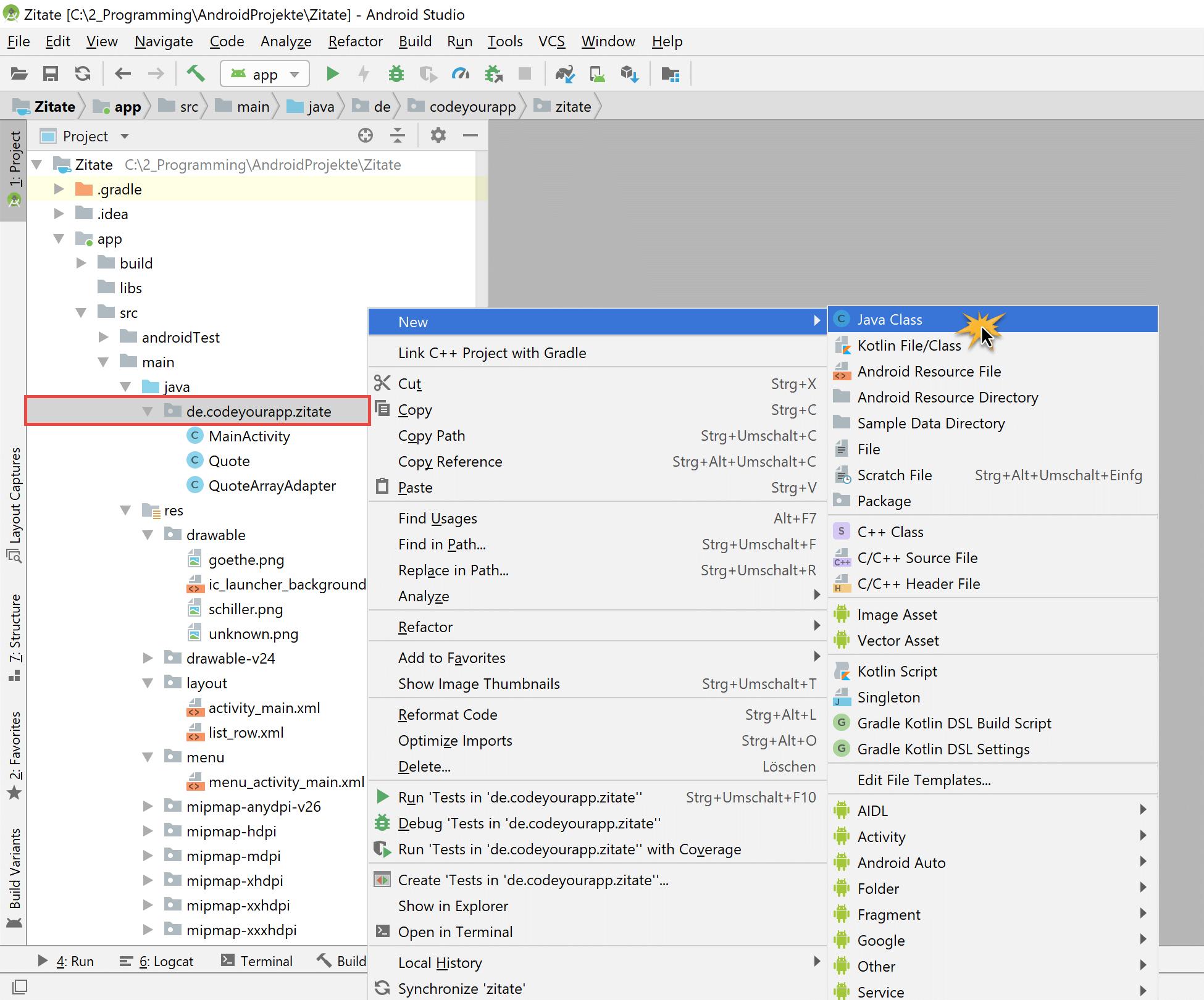 utility_klasse_erzeugen