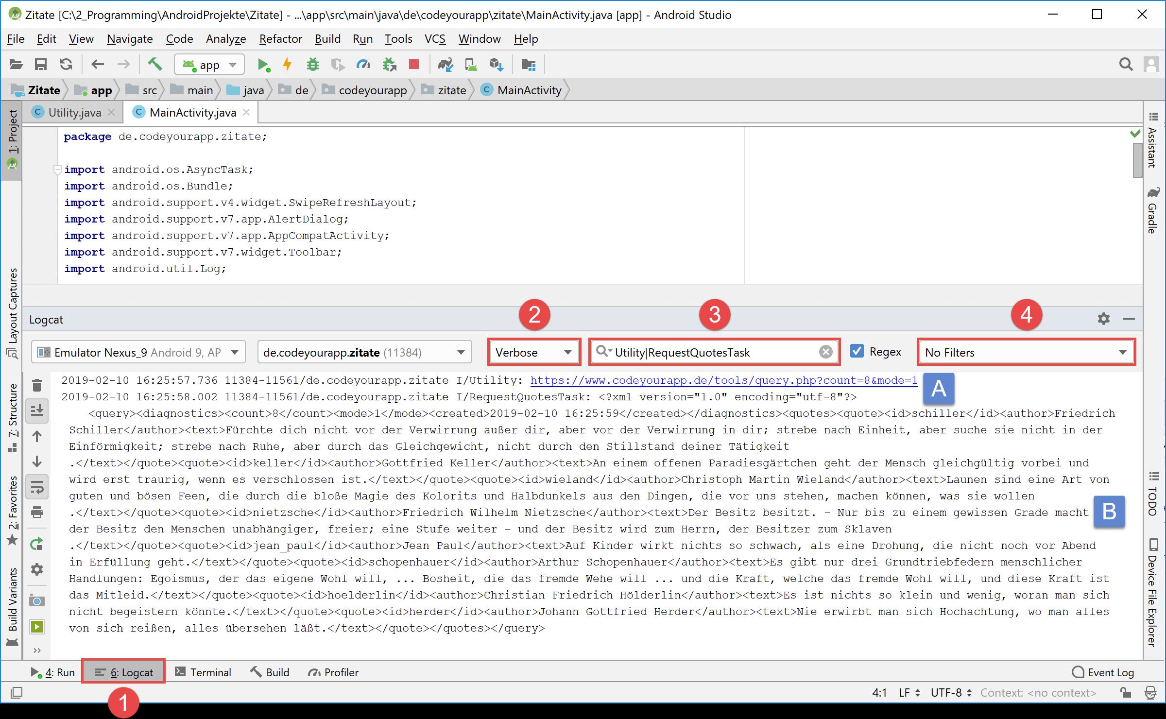 logcat_http_xml_output