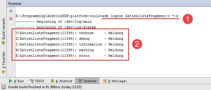 android adb logcat