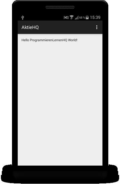 android app auf smartphone