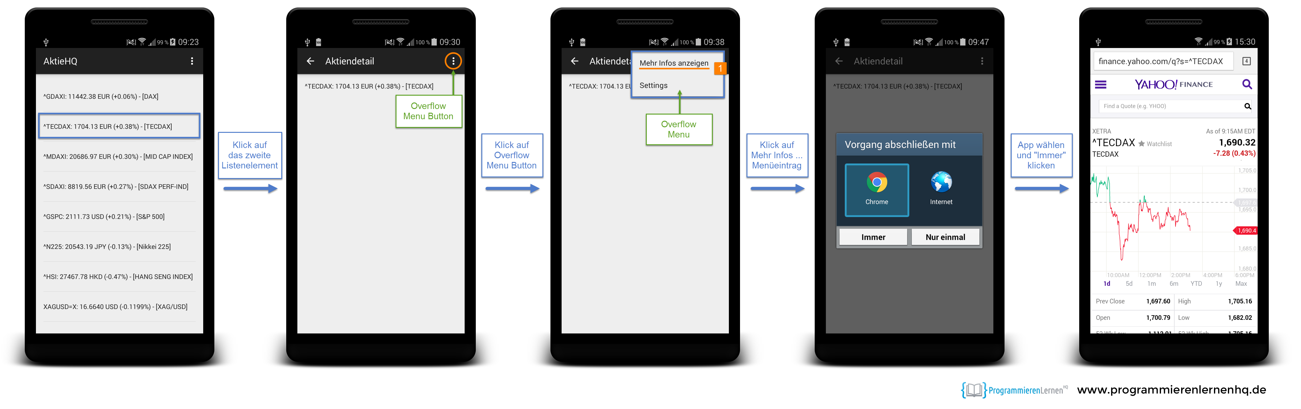 android tutorial: android app programmieren + entwickeln