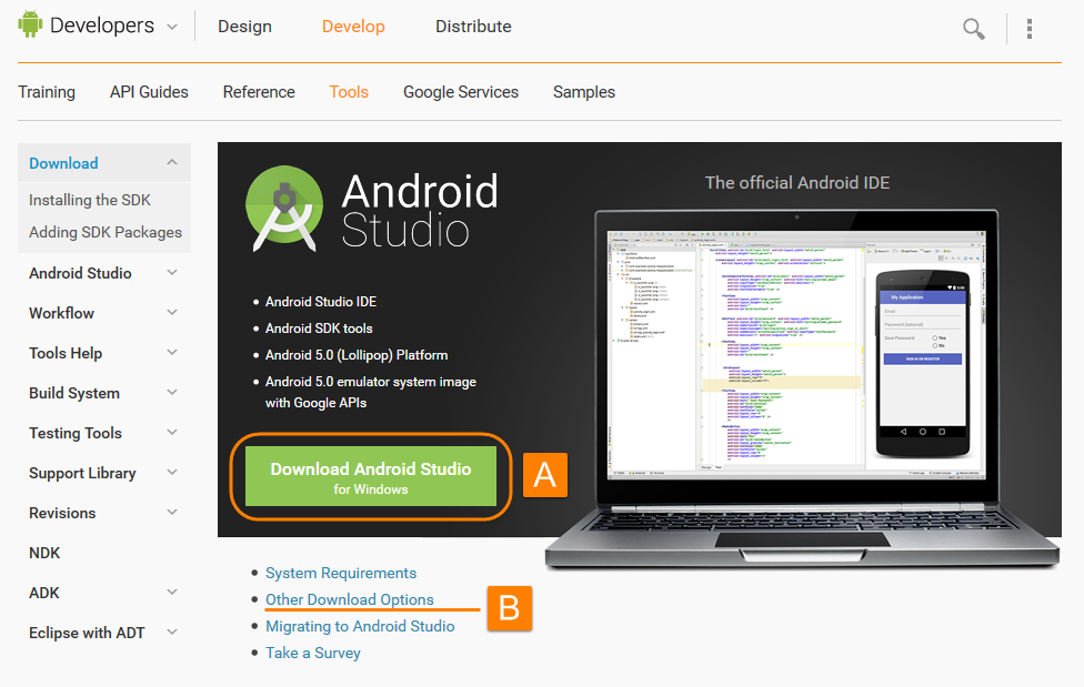 android studio 1 download