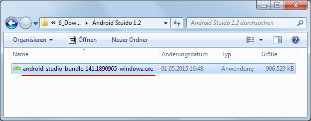 android studio 1 installationsdatei
