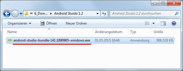 android studio 1 installationsdatei