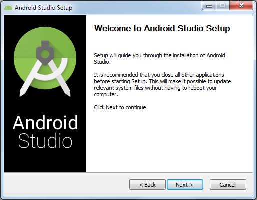 Android Studio 1 Setup Wizard