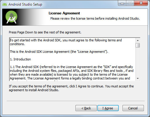 android studio licence