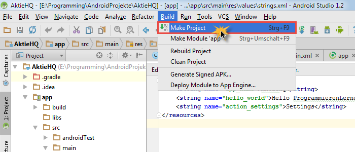 android studio project build