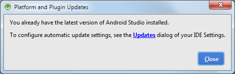 android studio update latest version