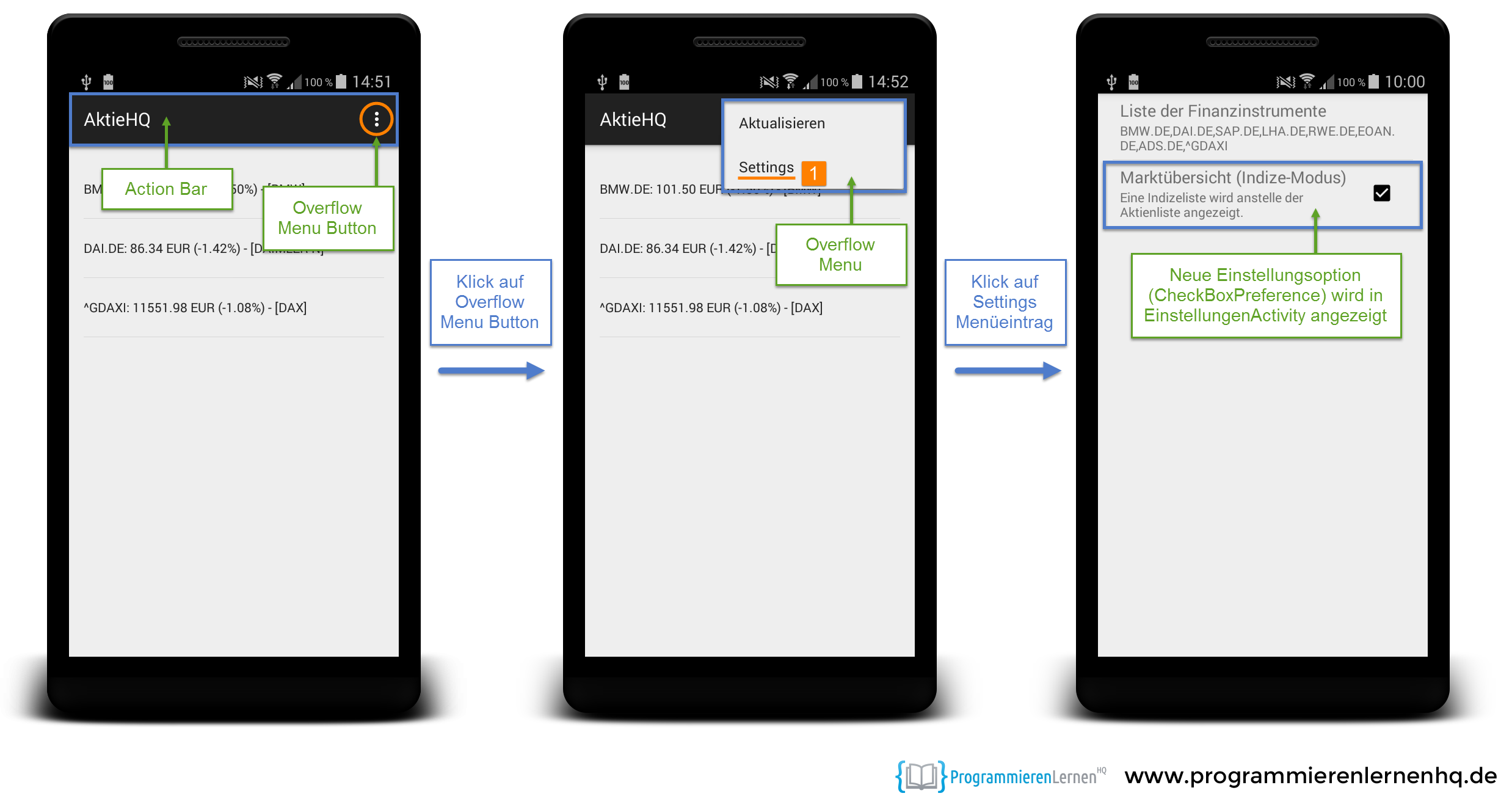 Android Tutorial: Settings und Preferences in Android
