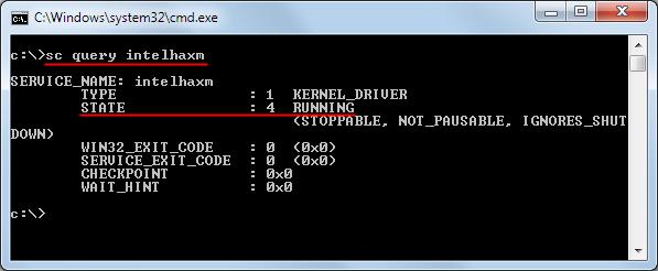 haxm installation test