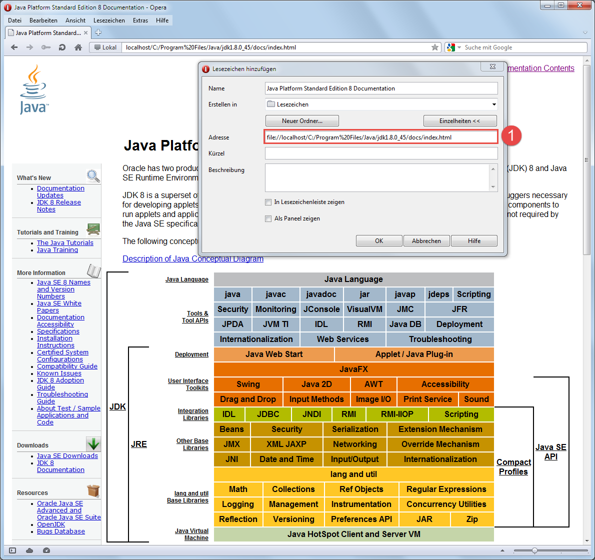 Java 8 Dokumentation installieren 4