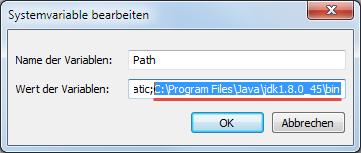 Java 8 Path setzen 6