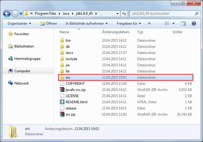 Java 8 Quellcode installieren 2