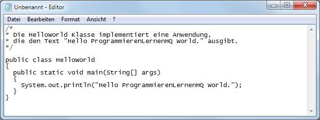 Java 8 Quelldatei erstellen 1