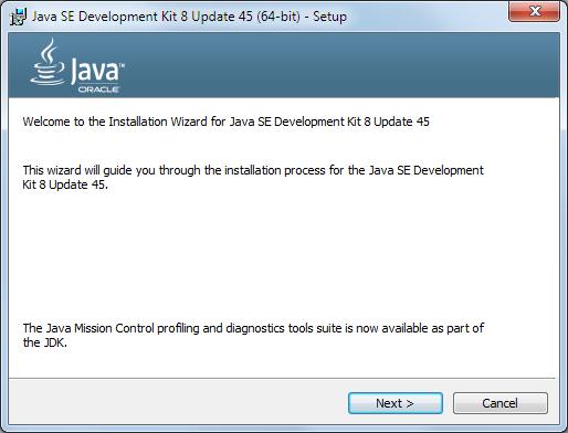 Java 8 Installation Dialog 1