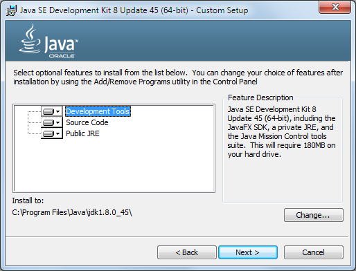 Java 8 Installation Dialog 2