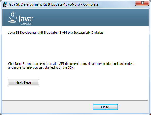 Java 8 Installation Dialog 6