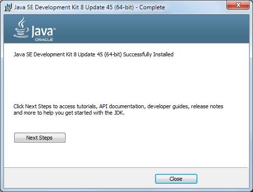 Java 8 Installation Dialog 6
