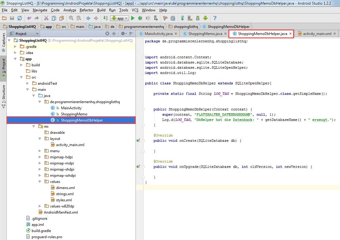 android sqlite dbhelper code