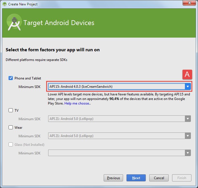 android sqlite projekt api version