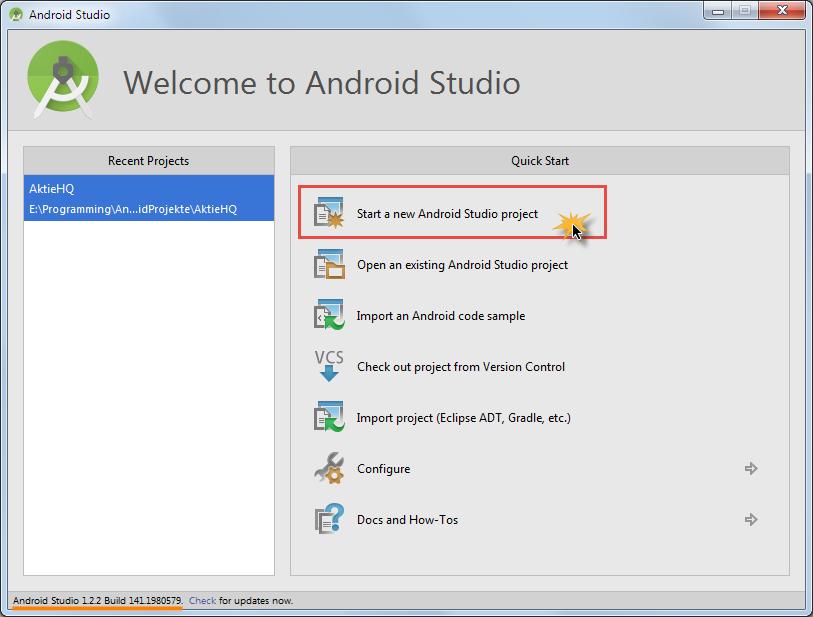 android sqlite projekt erstellen