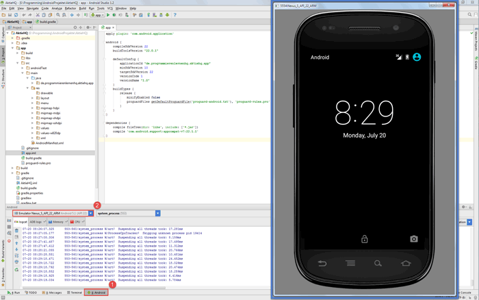 android virtual device im emulator
