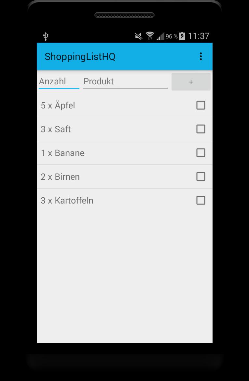 android sqlite app ui