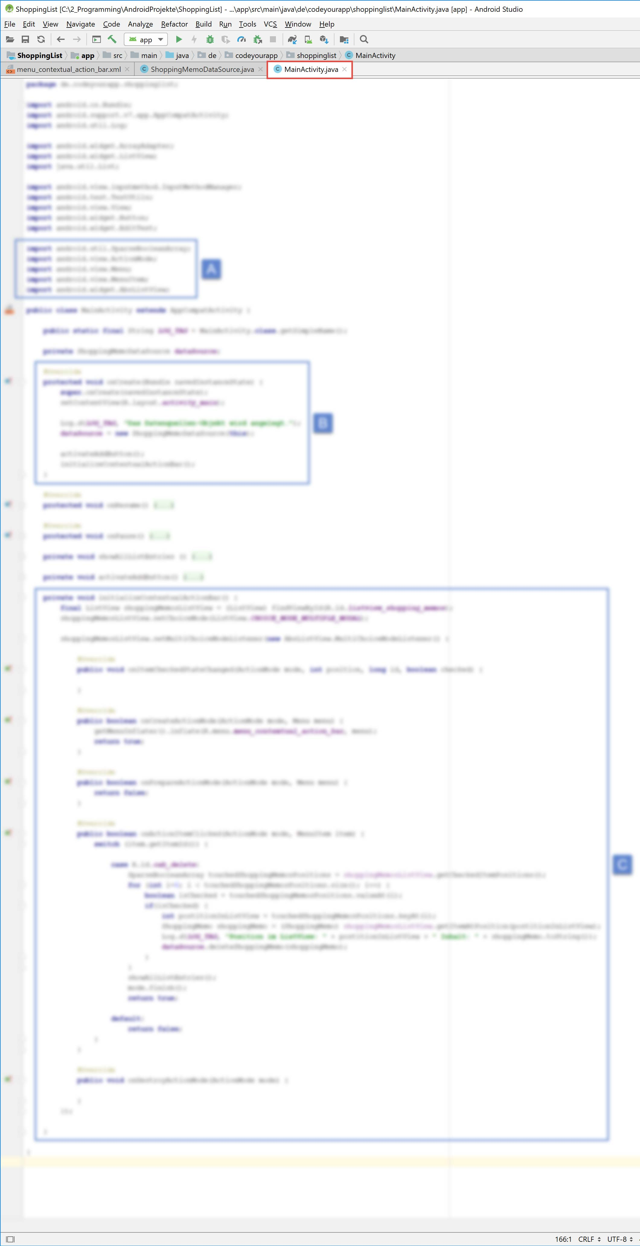 android_sqlite_lektion6_blurry