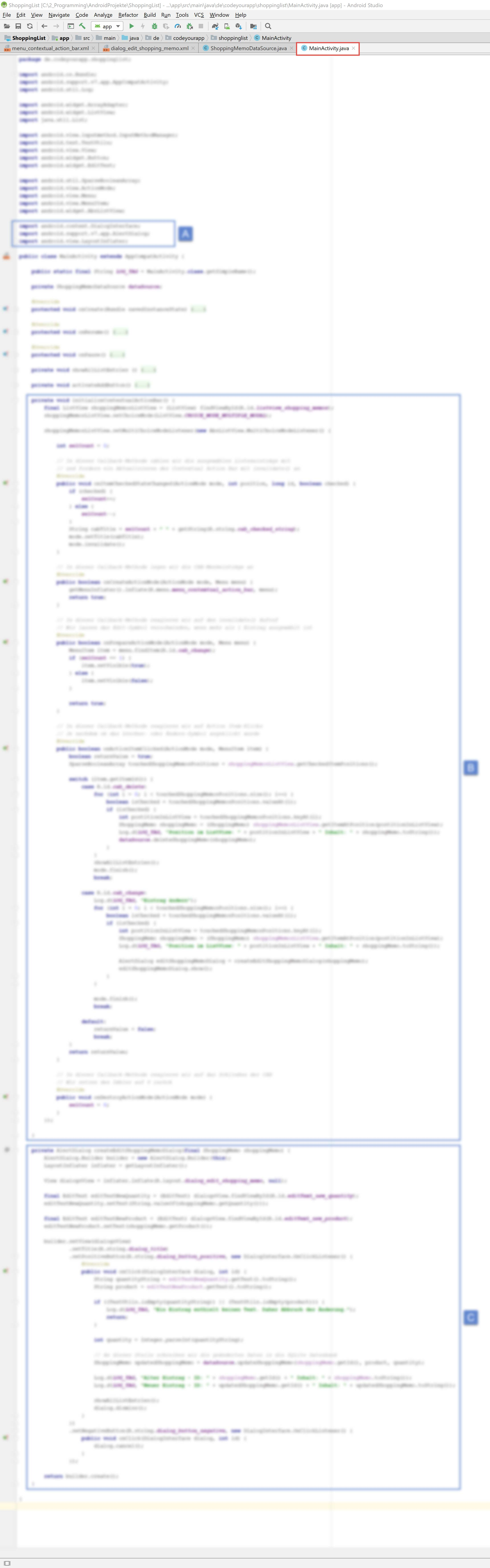 android_sqlite_lektion7_blurry