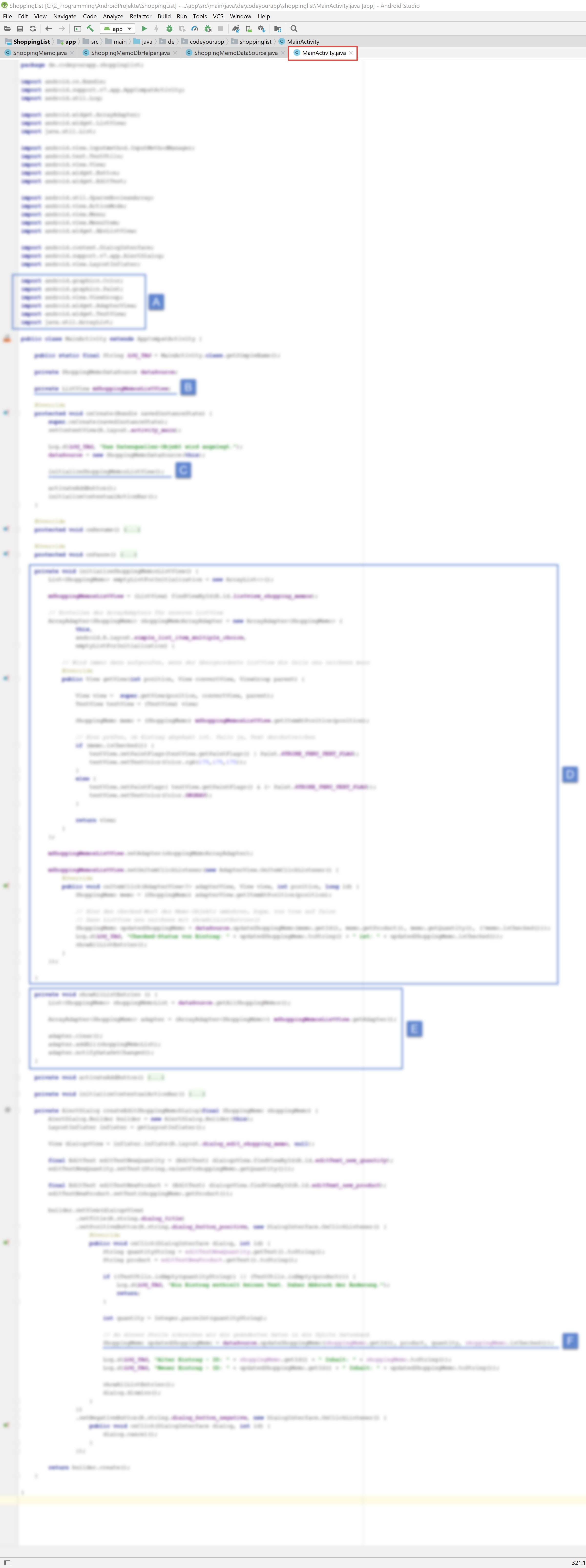 android_sqlite_lektion8_blurry