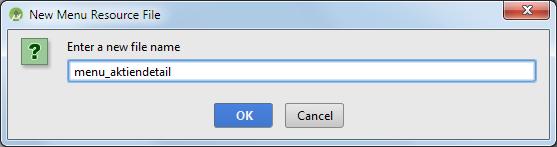 android intent menu filename