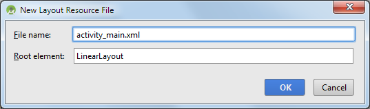 android studio project layout activity name