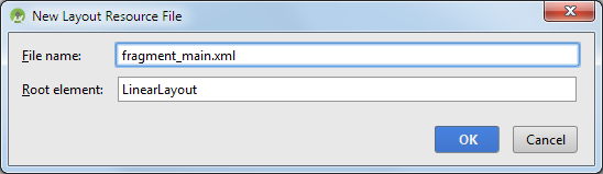 android studio project layout filename