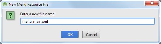 android studio project menu filename