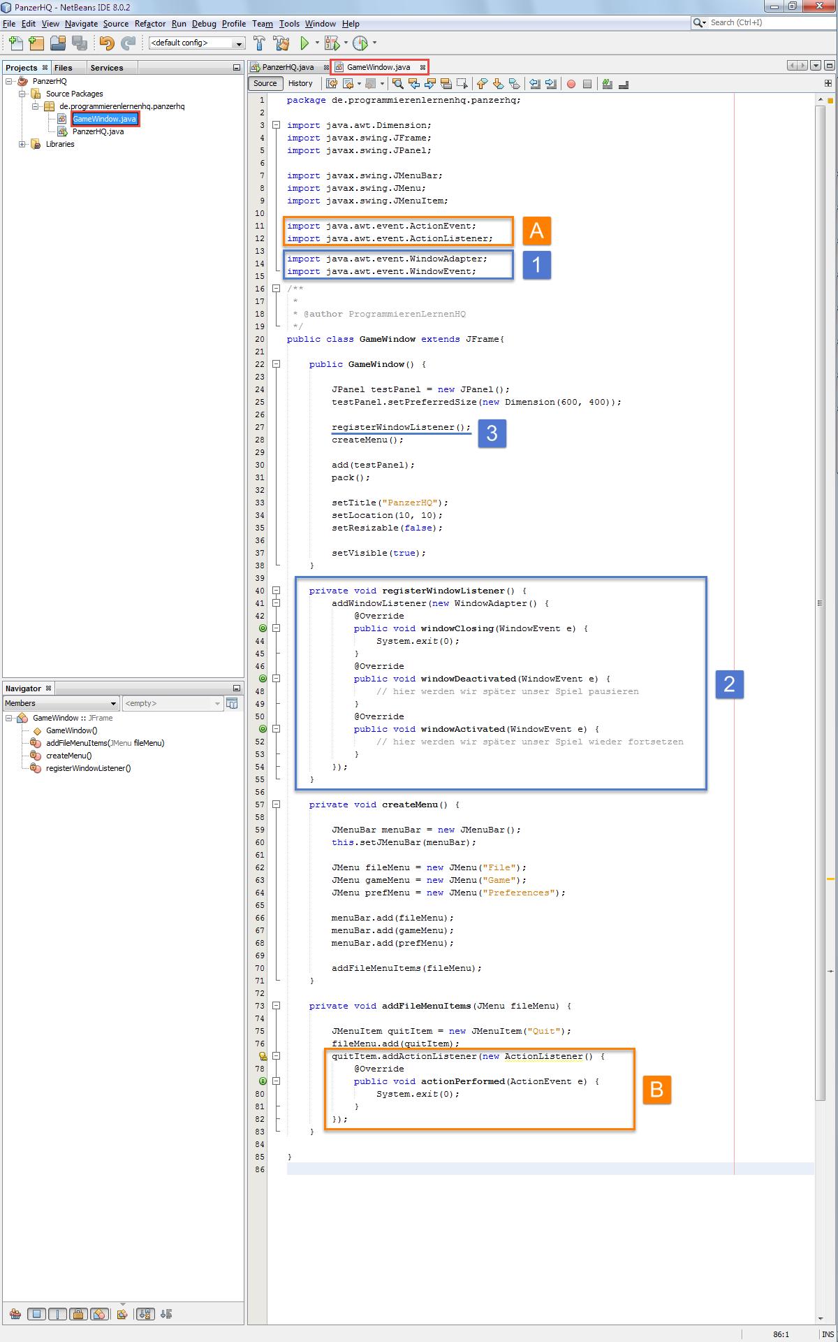 Java Spiel Programmieren Tutorial - Das Spielfenster erstellen